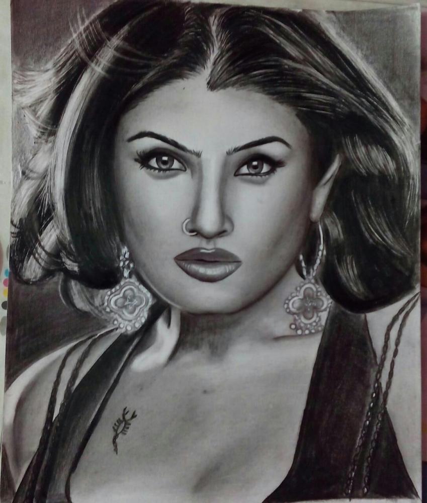 Raveena Tandon by CHHAYANKANArts